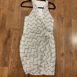 Parker beaded wrap dress large